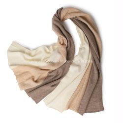 Novo design do fornecedor Tecidos Jacquard Puro Misto Three-Tone lenço de Caxemira