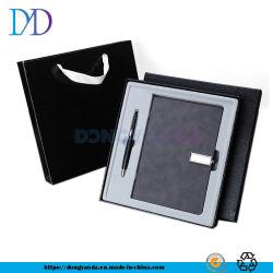 2019 корпоративный логотип серый заблокирован PU подарочный набор для ноутбука