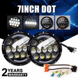 7인치 도트 45W 하이 로우 빔 Wrangler Daymaker 방수 트럭 헤드 램프 LED 차량용 라이트 지프 자동차 LED 헤드라이트