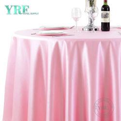 Раунда полиэстер обычная таблица ткани белых свадьбы крышки стола отель питания