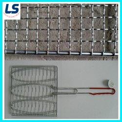 Barbecue Crimed Wire Mesh dans le fil galvanisé ou fils en acier inoxydable