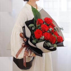 꽃다발 서류상 화병 황금 티슈 페이퍼 꽃 꽃다발 꽃 포장 재료 경량과 호화스러운 시리즈