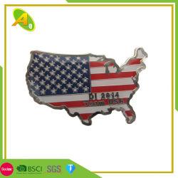 Distintivo su ordinazione dello smalto dei monili acciaio inossidabile/del ferro poco costoso promozionale in regalo del contenitore di velluto (205)