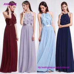 긴 시퐁 에이라인 최신 고삐 Bridemaids 복장