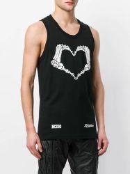 Los hombres de los hombres Custom 100% Algodón Tank-Top ropa deportiva Camiseta Chaleco Tank Top