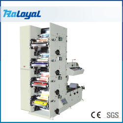 4 цветов билет поворотного механизма Flexographic печатной машины