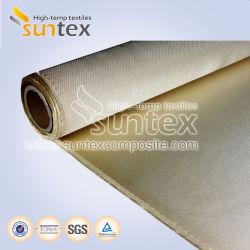 1000 C de temperatura alta protección para soldadura Tejido de fibra de vidrio de sílice de alta