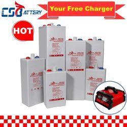 Bateria Csbattery 2V 200ah/420ah/500ah/600ah//800ah/1000ah bateria de gel tubular Opzv Solar/UPS/LED-Light/Solar-System/Emergency-Power-Systems/Opzs/CSM