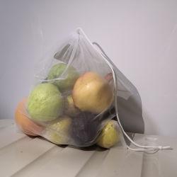 Fruits Légumes réutilisables RPET sacs de maille en polyester