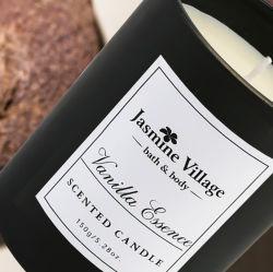 400 ml di cera di soia di vetro profumata Amethyst Gem concentrazione di candela di legno di sandalo