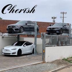 2 Level Zwei Pfosten / Säule Hydraulische Parkplatz Lift / Hebezeug / Stapler / Aufzug Home Garage Parksystem Für Fahrzeuge