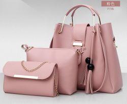 حقيبة كتف مصنوعة من الجلد المحبب للبيع في المصنع من قطع ثلاث قطع النساء في purse
