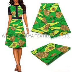 아프리카 여성용 100% 폴리에스테르 직물 프린팅 Super Wax 패브릭 옷