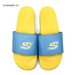 샌들 남자, 관례에 의하여 Superstarer 샌들 관례 활주에 의하여, 주문 로고 공백 인쇄된 슬리퍼 활주 신발 미끄러진다