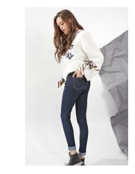 Женщин любви горячим продаж Hez моды дизайн Skinny Stretch черные брюки женщин джинсы Джинсовые брюки