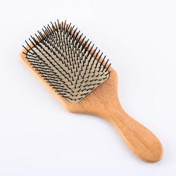 O OEM Professional 100% Pente Escova de pêlo de madeira de bambu