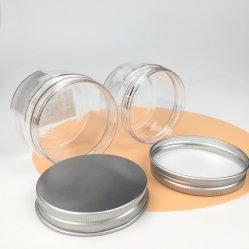 4 [أز] 120 غرام مخصصة طعام محبوبة درجة فارغة بلاستيك واضحة ياطانات ذات أغطية رأس لولبية من الألومنيوم لحاويات الرعاية الشخصية الجملة