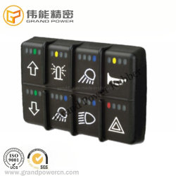 L'impression personnalisée l'arracheuse de rétroéclairage du clavier du panneau de bouton de commande de clavier en silicone système