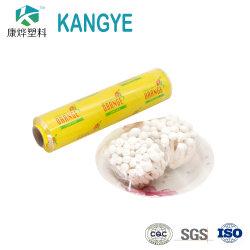 China filme de PVC fabricante preço grossista Grau Alimentício Esticamento/Filme para Finalização de alimentos