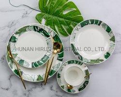 Neues Porzellan-volles Abziehbild-Essgeschirr mit Blatt-Muster