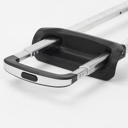 Equipaje telescópico Handlle maletín de plástico asa de Aluminio precio barato