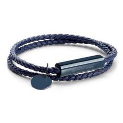 Personifiziertes graviertes Firmenzeichen-Leerzeichen-Stab-Metallkundenspezifisches Verpackungs-Leder-Armband