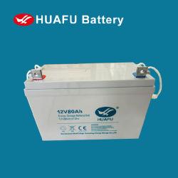 12V AGM van het lood de Zure Batterijen van de Telecommunicatie van de Batterij van het Gel 80ah Gebruikte