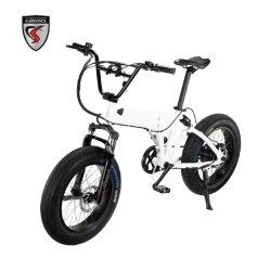 Настраиваемые 20-дюймовый портативный жир шины складной электрический велосипед города велосипед