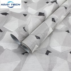 Simple mais élégant design personnalisé Papier peint en PVC adhésif de la soie en 3D Accueil décoration murale papier