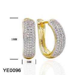 女性のための方法宝石類の銀か真鍮のHuggieのたがのイヤリング