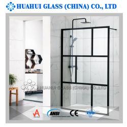 Comitato fisso dell'acquazzone di vetro Walkin di alluminio con il vetro Tempered di 10mm per la stanza da bagno