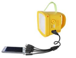 Lanterne solari con radio Broadcast News FM per aree remote