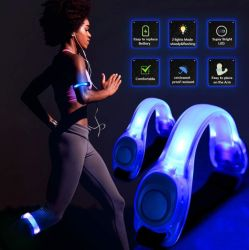 USBSports nachladbare tragbare Saftety Wristband-Armbinde den Nightlight-im Freiensport, der laufende Modi LED-3 für Gebrauch komprimiert und mit veränderbarer Länge