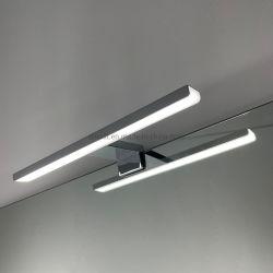 مرآة الزينة LED من الكروم الألومنيوم، مقاومة للماء، بطول 300 مم، إضاءة الحمام مقاومة للماء مصباح مرآة الحمام أو الخزانة مع RoHS الاتحاد الأوروبي IP44
