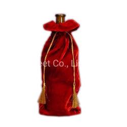Coulisse de promotion Sac Housse bouteille de boisson en velours