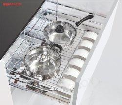 Saque de montaje lateral Cesta de alambre de acero inoxidable de la estufa Cocina Cajón Saque la cesta la cesta de almacenamiento