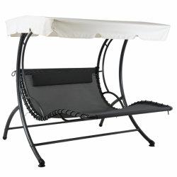 تيسلين راقداً حديقة أرجوحة حمام أثاث خارجي محيط وقت الفراغ كرسي متحرك مع غطاء في تسلين
