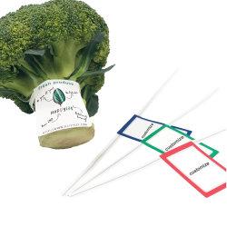 工場熱い販売のペーパーによって印刷される野菜およびフルーツの防水ねじれタイの野菜のペーパーねじれタイ