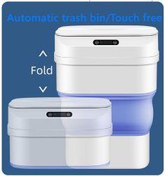 يمكن أن يؤدي طي سلة المهملات البلاستيكية إلى مزبلة أداة الاستشعار التلقائي الملفوف الحاوية