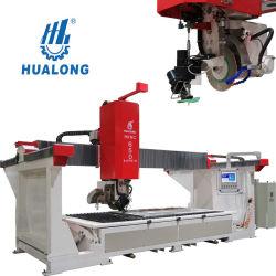 Hualong 5 оси ЧПУ Hknc-650j высокую эффективность резки и систему очистки Jet Clean Sawjet камня режущие машины с мост пилы и Waterjet
