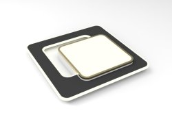 현대적인 다리미 LED 거실 침실 사무실 천장 조명(DK012-550)
