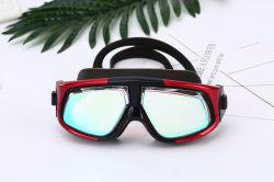 Occhiali di protezione professionali di nuotata, nessun occhiali di protezione larghi colanti di nuotata di vista di protezione UV impermeabile antinebbia registrabile di misura