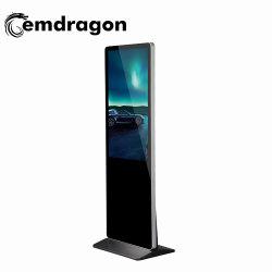 55 pulgadas Super Slim quiosco digital Suelo OEM Signege TV LED LCD Digital Signage para HTC LCD Digital Signage Publicidad