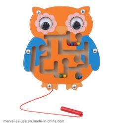 Het vroege Onderwijs Intellectuele Speelgoed van het Spel van het Raadsel van het Labyrint van de Jonge geitjes van Hersenen Houten Magnetische