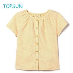 Niño bebé Short-Sleeved algodón cuello redondo Camiseta para niños ropa Blusa Foreign-Spirited