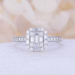 Dedo el anillo de zirconio cúbico AAA para la boda y el compromiso Bisutería Don CR1019
