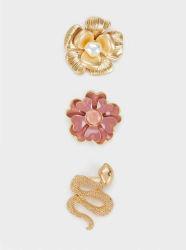 方法花およびヘビのブローチの一定の宝石類