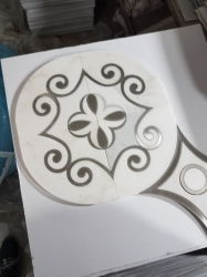 Blanco/Amarillo/negro Onyx Water-Jet mármol beige Mosaico por chorro de agua para el patrón de piso