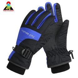 Windproof resistente al agua caliente al aire libre Ciclismo guantes de esquí de motos motos de nieve con la nervadura brazalete