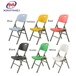 Outdoor Leisure Furniture Event Wedding Party Metal Frame Folding Plastic Garden Dining Chair